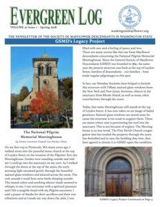 Washington State Society of Mayflower Descendants Newsletter Volume 31 Issue 1 Spring 2018