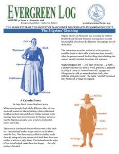 Washington State Society of Mayflower Descendants Newsletter Volume 31 Issue 2 Summer 2018